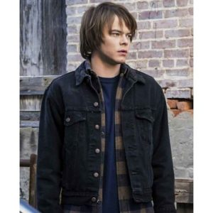 Jonathan Byers Stranger Things Black Jacket