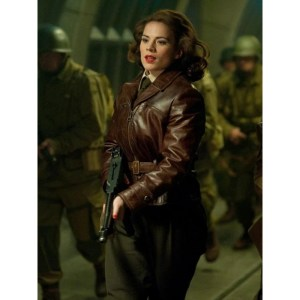 Peggy Carter Captain America The First Avenger Brown Jacket