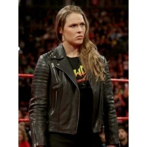 Ronda Rousey Biker Quilted Leather Jacket