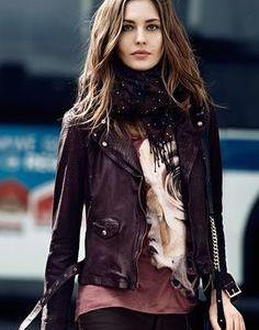 Megan Fox Purple Leather Jacket