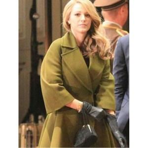 Blake Lively Green Coat