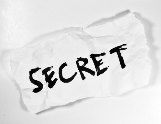 Secret on piece of paper