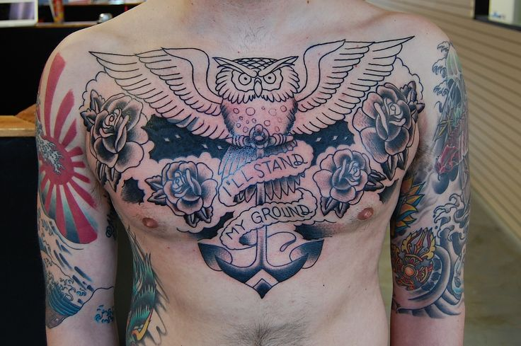 more chest tattoos for men on the next page