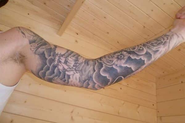 424c44c7e Cloud Tattoos for Men - Ideas and Designs for Guys #cloud #tattoos ...