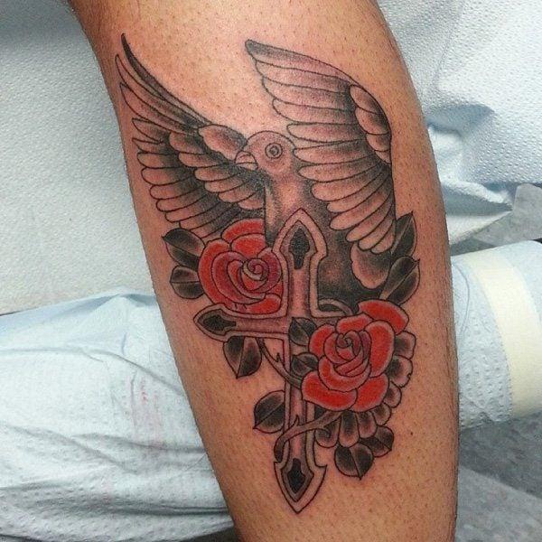 Dove Releasing Hands Tattoo