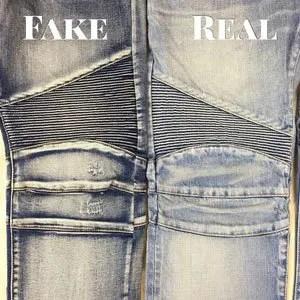 fake balmain biker jeans