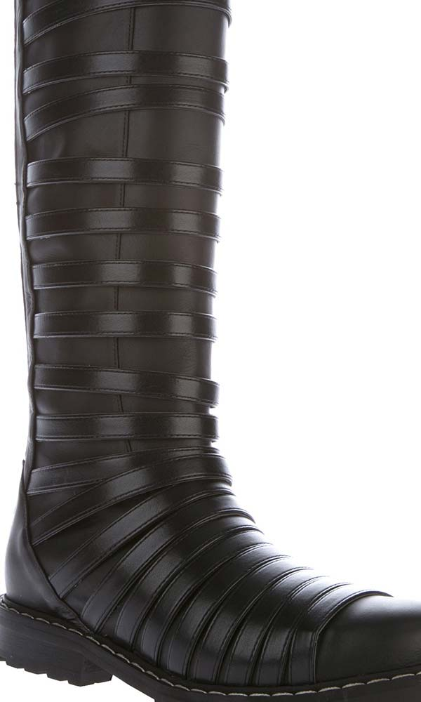Gareth Pugh mens high strapped boot