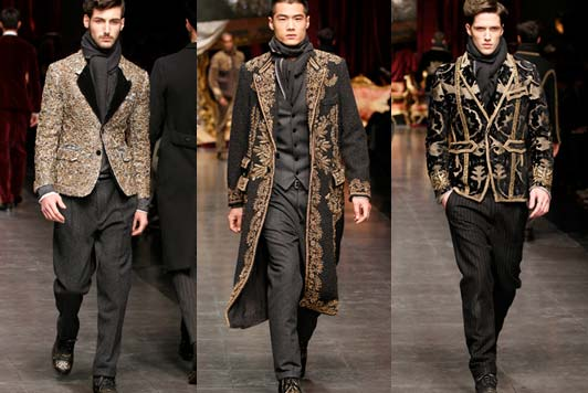 exquisite events dolce and gabbana - mens 2013