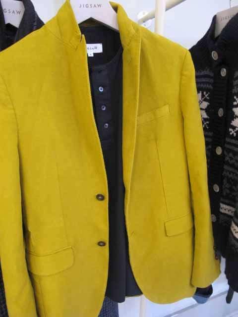jigsaw men,yellow velvet jacket,2012