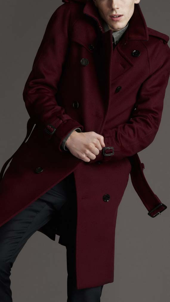 Red coloured Trench coat for men - hot this season