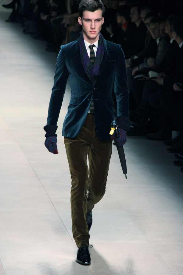 Burberry-Prorsum-Fall-Winter, velvet suits 2012