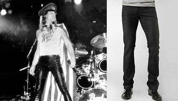 Jon Bon Jovi wearing leather trousers