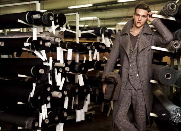 Corneliani Fall Winter 2012 3 piece suits tweed