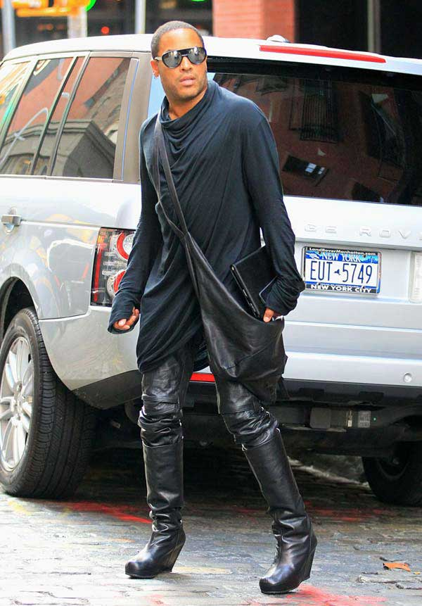 Lenny Kravitz - wearing knee-high boots