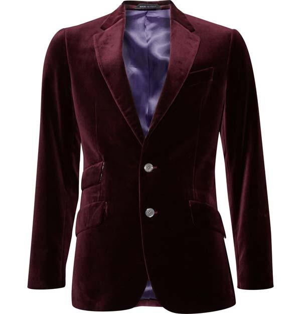 paul smith velvet maroon men's jacket