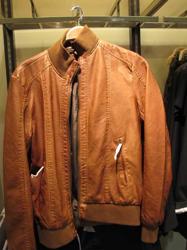 zara-men,-leather-brown,,-tan,-bomber--jacket