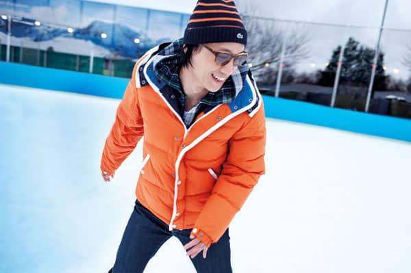 Lacoste Live Fall Winter 2012 2013 Men Orange Down Winter jacket