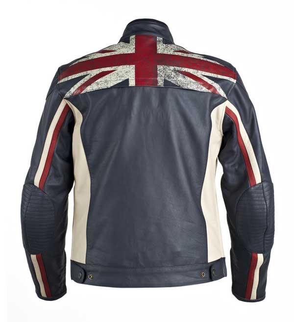 UNION JACK world of triumph motorbikes leather jacket