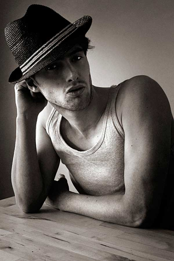 armando branco, male-models,-black,straw,fedora