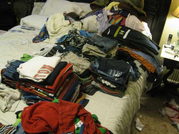 messy wardrobe for men 2012