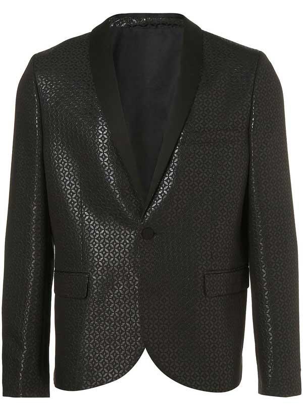 topman black jacquered - xmas blazer for men 2012