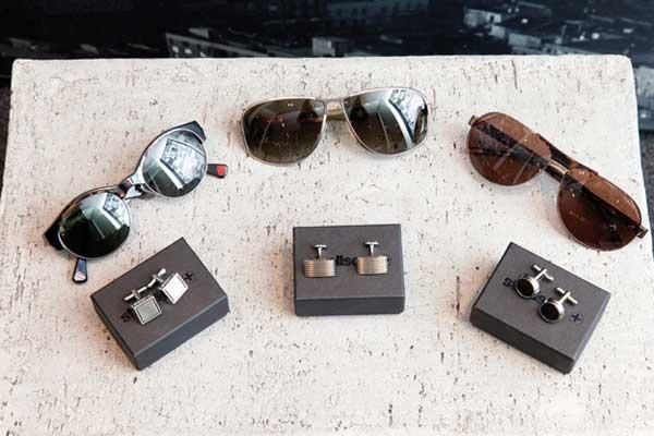 Strellson - sunglasses and cufflinks