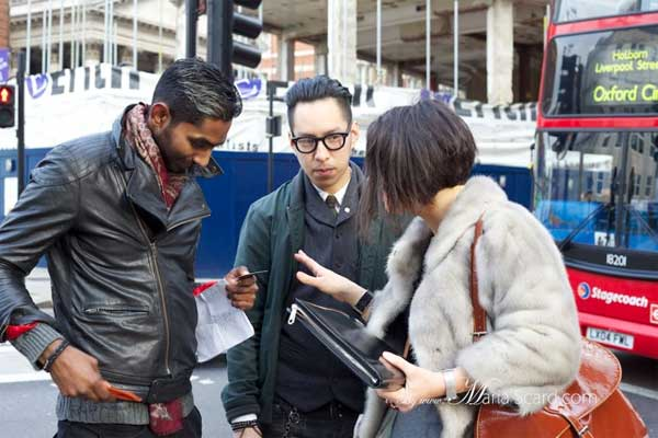 Gracie Opulanza in action at London Collections: Men