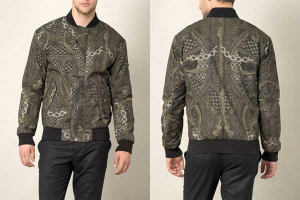 Alexander McQueen -cable print bomber jacket