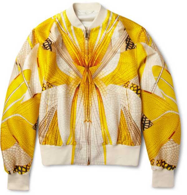 bomber jacket - Alexander Mcqueen for men 2013 spring yellow