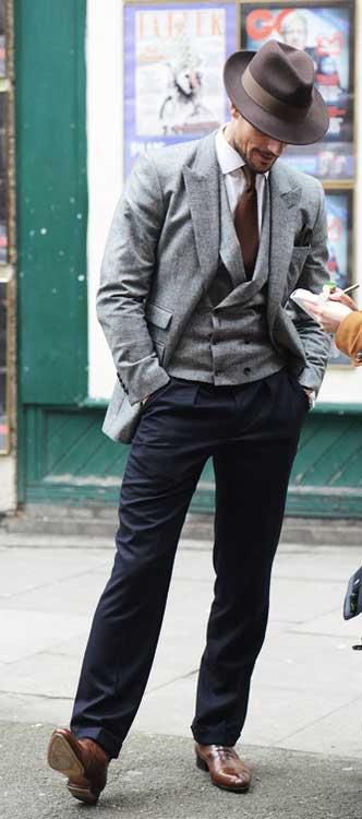 david gandy - london collections men 2013 - grey vest