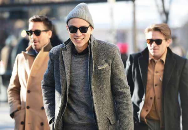 Grey tweed - Jacket for men 2013