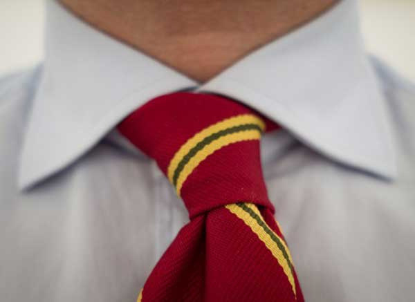 Vintage red and yellow striped tie