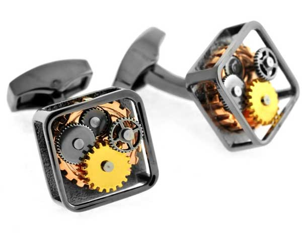 Cuff Links - Gear and Gunmetal