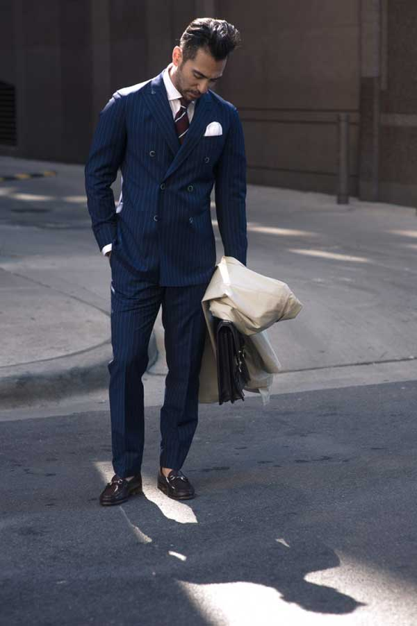 Pinstripe suits - double breasted for men