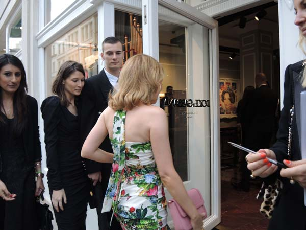 Kylie Minogue at Dolce & Gabbana Menswear Store Opening in London Bond Street