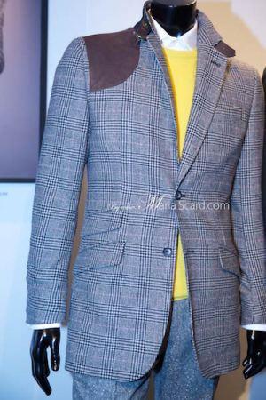 Marks & Spencer 2014 Blue Blazer - Chekered