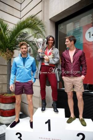 Orlebar Brown - Monaco Collection Sports Jackets - Gracie Opulanza Holing the Trophy