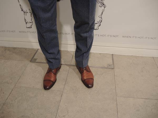 david gandy reiss three piece suit worn at London collections men