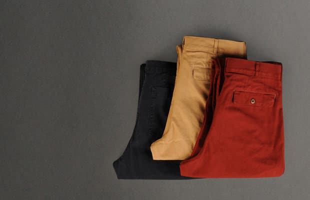 Margaret Howell Chinos for men red,beige and black