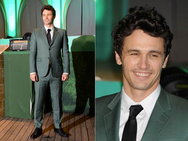 James Franco - Wearing Emerald Suit