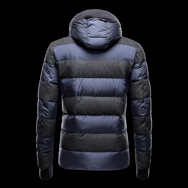 Moncler Down Men Coats Blue padded-jacket
