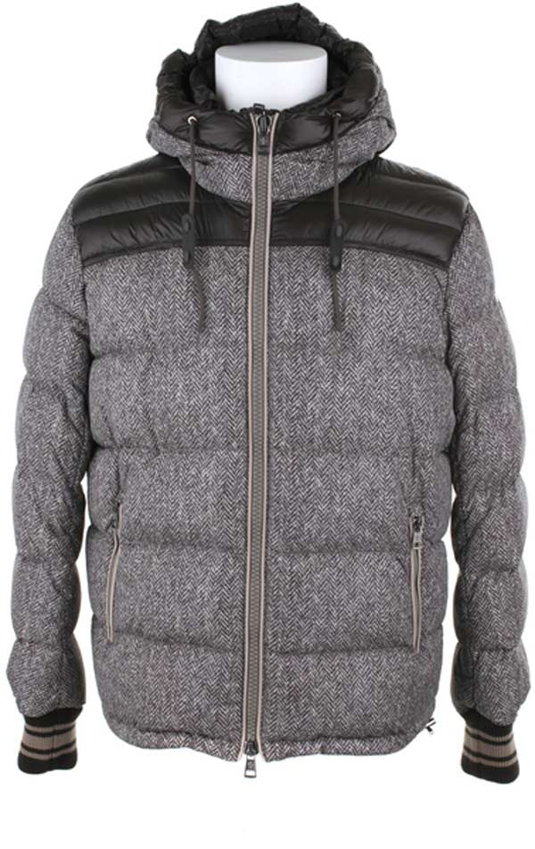 Moncler polyamide fibers tweed padded jacket