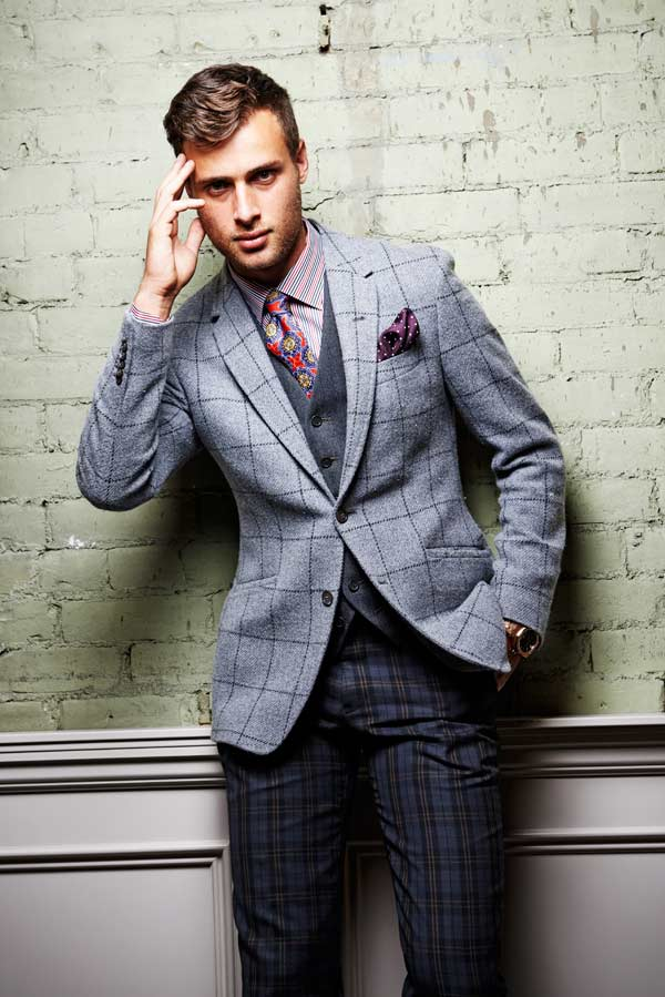 Chequered Blazer and Trousers
