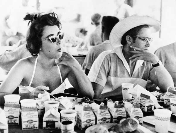 James Dean drinking lots of milk