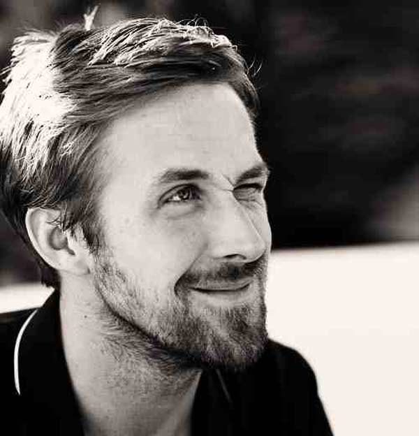 Ryan Gosling Classic cut crop hairstyle for men
