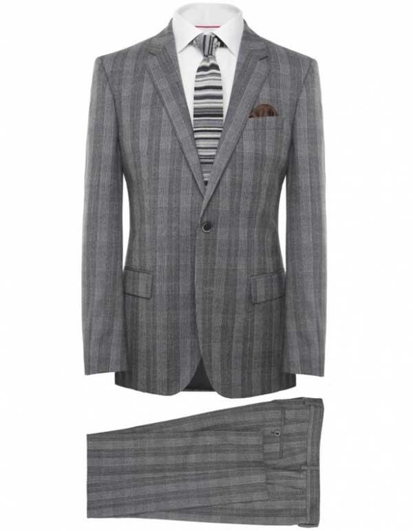Jules B - Hugo Boss Black Checkered Hedge Suit