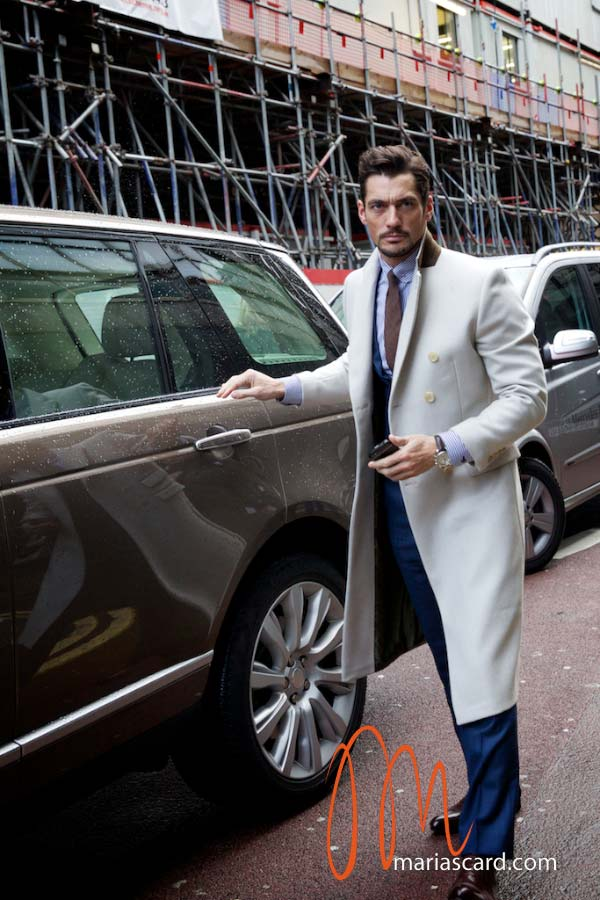 David Gandy - White Overcoat 2014