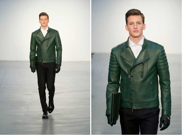 Kent Curwin 2014 Pleather Jacket Green (1)