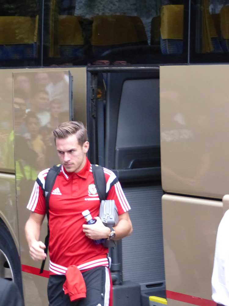 Wales football players in Andorra (1)