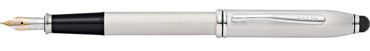 Townsend Stylus - Brushed Platinum Plate Fountain Pen £315